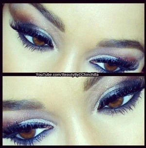 Neutrals paired with cool colors make brown eyes pop! Beautified!!