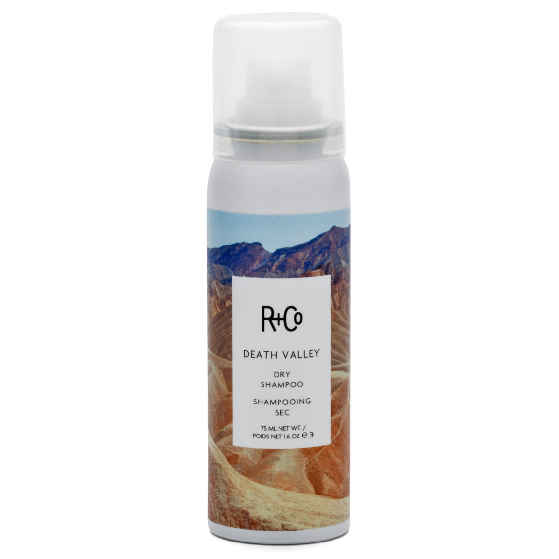 R+Co Death Valley Dry Shampoo 1.6 oz product smear.