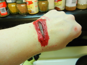 i should really be more careful with knives.. lol