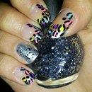 Neon Leopard nails (re-interpretation of Cutepolish design).