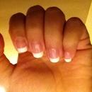 French tips. Natural nails