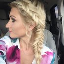 Dutch fishtail braid and hair color by Christy Farabaugh