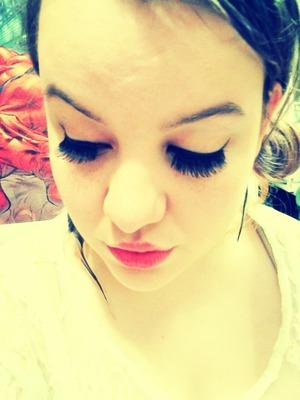 new to using false lashes.