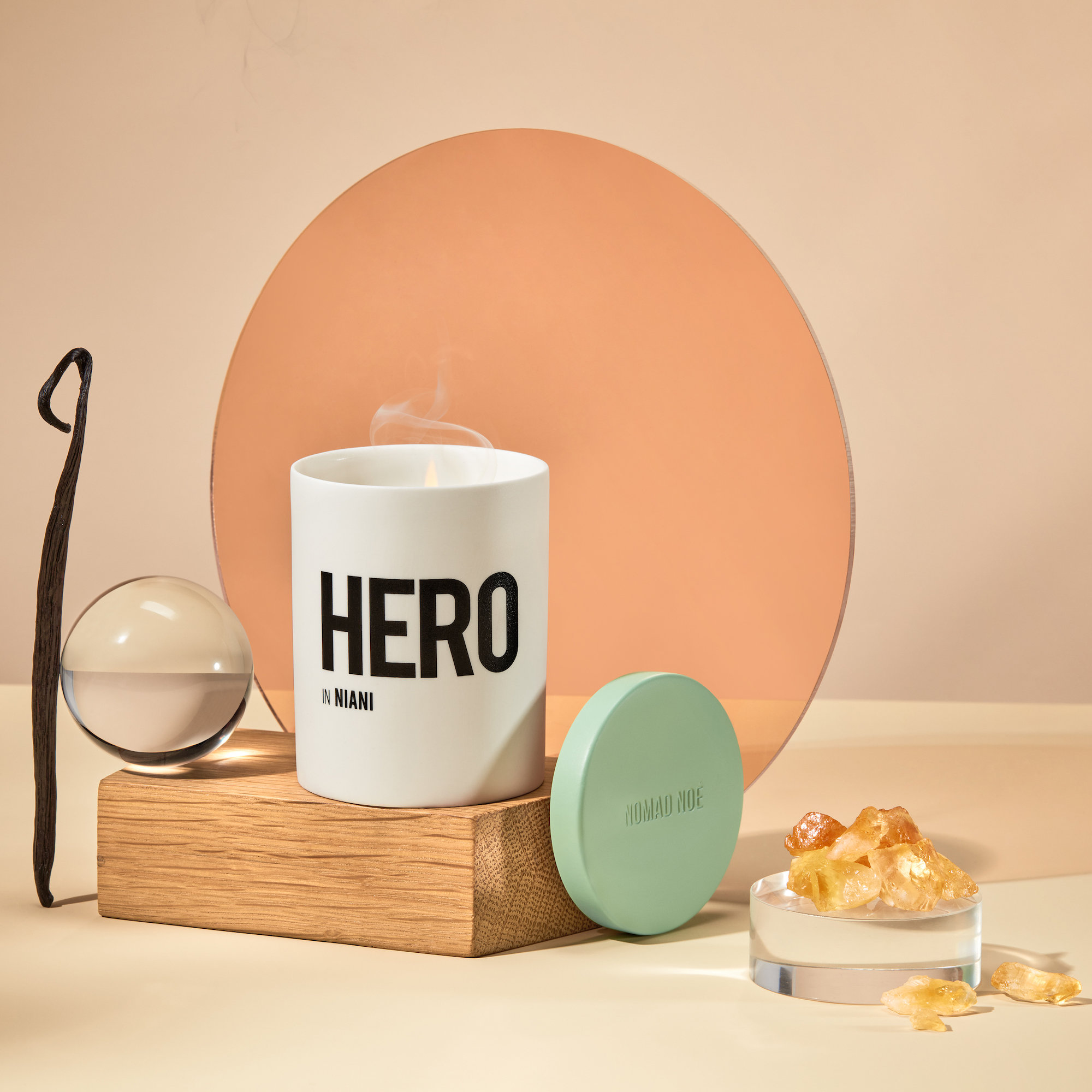 Alternate product image for Hero in Niani - Amber & Patchouli shown with the description.