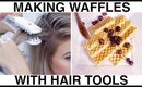 Making Waffles with Hair Tools!
