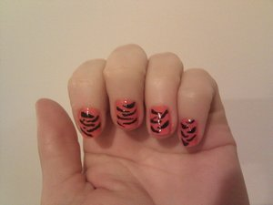 Done in honour of one of my besties & her cheer squad the tigers!