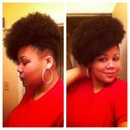 side Afro puff