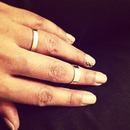 Gold Rings, Nude Nails and Silver Studs