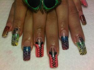 Carnival Nails : Corsets - Mascarade - Colorful - Animal prints