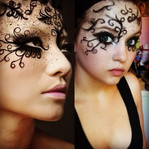 An old look I did for a makeup challenge