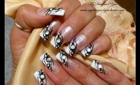 Black Tie Event French, Nails, Tutorial - ♥ MyDesigns4You ♥