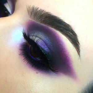 Varying shades of purple from just below the brow line and down, covering the lid.