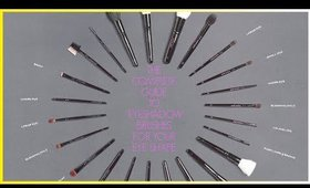 HOW TO PICK THE BEST EYESHADOW BRUSH FOR YOUR EYE SHAPE!!!!