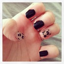 Leopard print accent nails