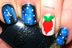 Inspired by Totally Cool Nails on Youtube: http://summerella31.blogspot.com/2013/03/across-universe.html