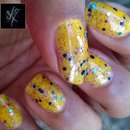 China Glaze: Sun Worshiper + FingerPaints: Dance Floor Diva