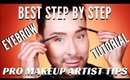 Best Step By Step Eyebrow Tutorial For Beginners | Pro Makeup Techniques - mathias4makeup