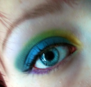 Playing with bright colours :)
