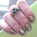 Metallic green with flowers