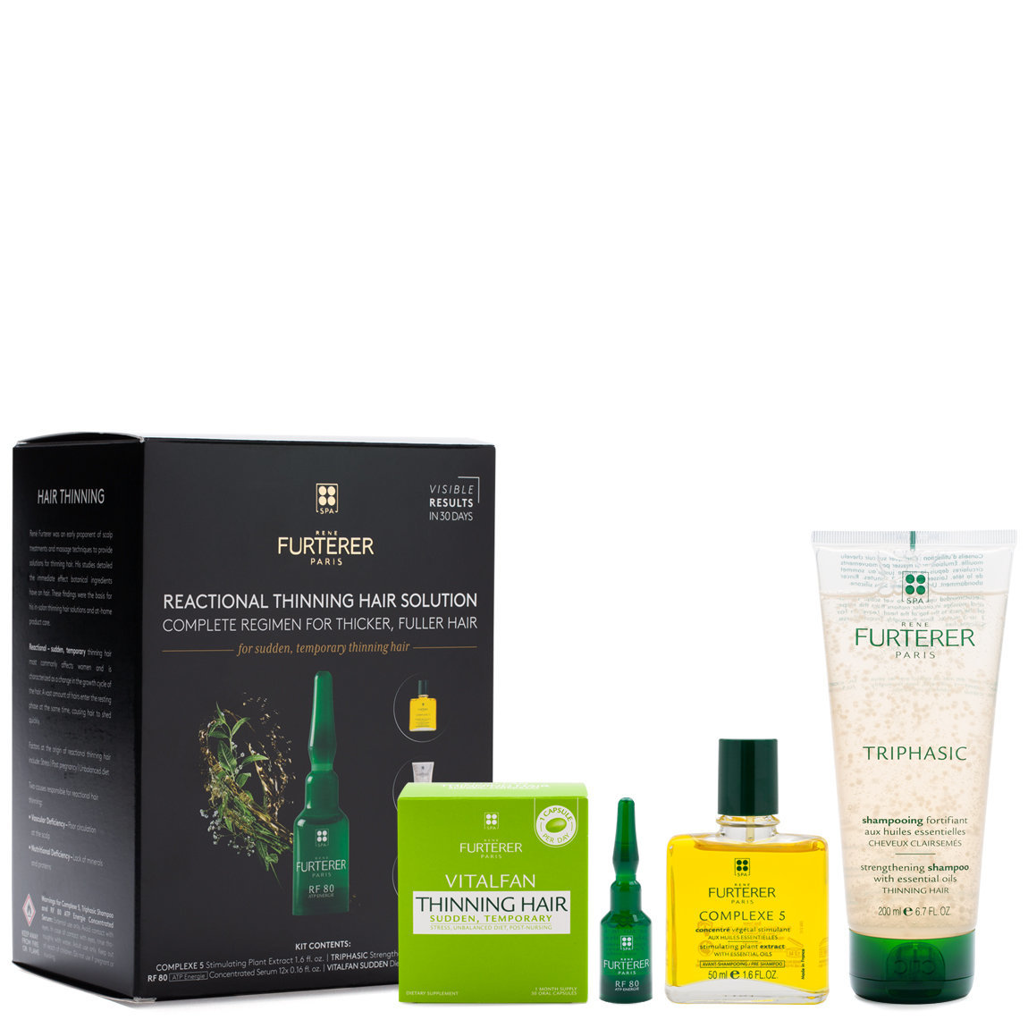 Rene Furterer Complete Thinning Hair Solution 4-Step Kit - For Sudden, Temporary Thinning Hair product smear.