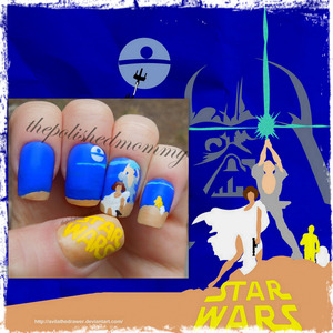 Nail Art Challenge: Star Wars. http://www.thepolishedmommy.com/2013/05/may-6th-be-with-you.html