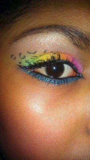 KlairedelysArt's Acid Leopard Makeup