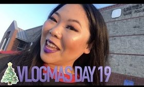 VLOGMAS DAY 19 🎄GRWM, PURPLE SHIMMER VEIL LIP & POST OFFICE ANNVENTURES | MakeupANNimal