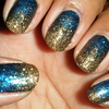 Glitter Gradient - Gold/Blue
