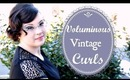 Voluminous Vintage Inspired Curls for Short Hair Tutorial