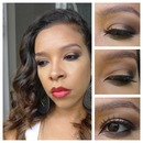 Light smokey eye with bold lips