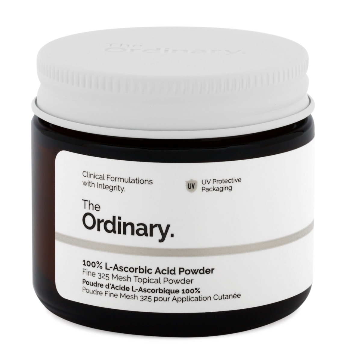 The Ordinary. 100% L-Ascorbic Acid Powder product smear.