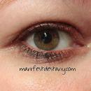 Orangey tinted eyelook