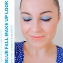 Blue fall make up look
