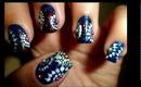 Pretty Abstract Dotted Semi-circles Nail Art for Short Nails!