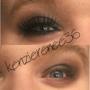 What a difference liner and falsies can make...