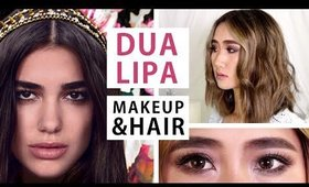 Dua Lipa Inspired Hair & Makeup Tutorial | Cerinedipity