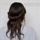 The Boho Roll: Half Updo