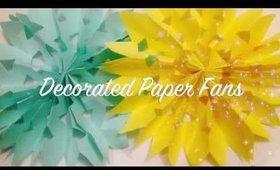 How to Make Paper Rosettes  Paper Fan Decoration   Wedding Decoration   Wedding Backdrop