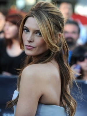 Ashley Greene half up do