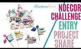 Ndecor Challenge Entry VR Project Share, Shaker Memory Dex Card Project Share