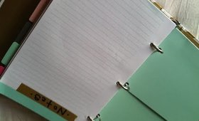 Project Plan: Organizing my Planner