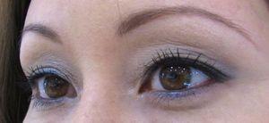 Close-up, wearing Guerlain Fall 2010 eye makeup