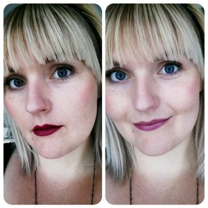 """2 new lipsticks:  Sexy vampire red from Rimmel By Kate in no 30  And  Sweet and innocent pink from Rimmel Moisture Renew in """"Vintage pink"""""""