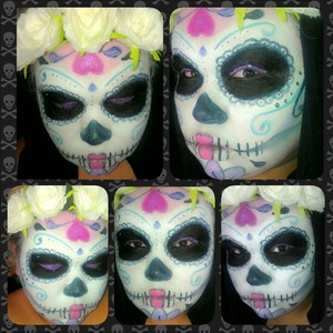 Colorful version of a sugar skull.