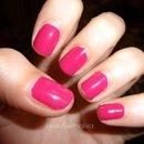 Hot pink nails :)