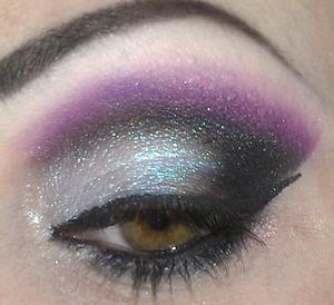 teal, purple & black smoky look.