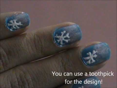 winter snow nail designs for short nails really easy nail