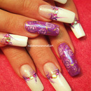 Lavender Rose Nail Art