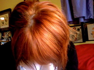 my hair after using Lush's Caca Rouge Henna Hair Dye