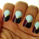 Tri-Color Studded Nails